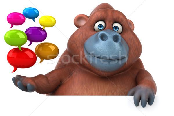 Eğlence 3d illustration doğa Afrika maymun komik Stok fotoğraf © julientromeur