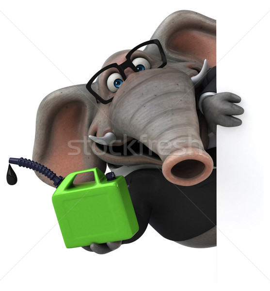 Zabawy słoń 3d ilustracji garnitur finansów Afryki Zdjęcia stock © julientromeur