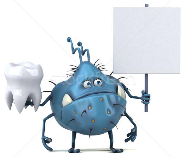 Jókedv bacilus 3d illusztráció egészség fogak grafikus Stock fotó © julientromeur