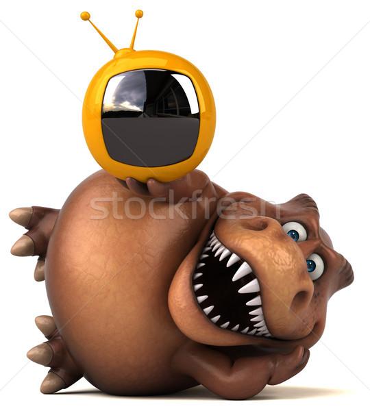 Eğlence 3d illustration ekran dişler hayvan medya Stok fotoğraf © julientromeur