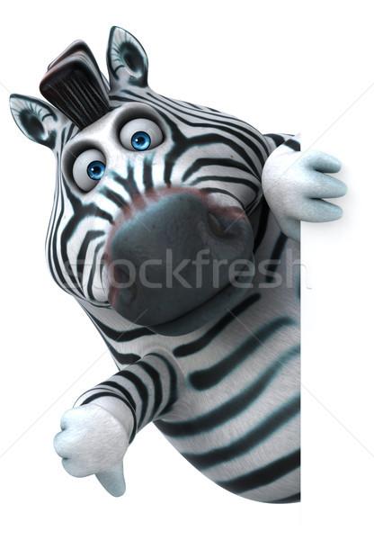 Fun zebra - 3D Illustration Stock photo © julientromeur