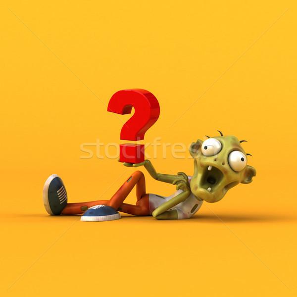 Leuk zombie 3d illustration man dood vraag Stockfoto © julientromeur