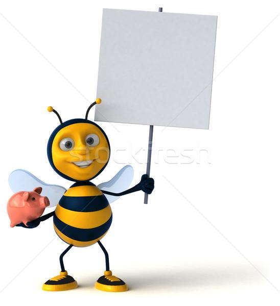 Leuk bee werknemer financieren honing spaarvarken Stockfoto © julientromeur