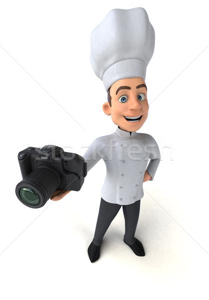Eğlence şef mutfak fotoğraf beyaz pişirme Stok fotoğraf © julientromeur