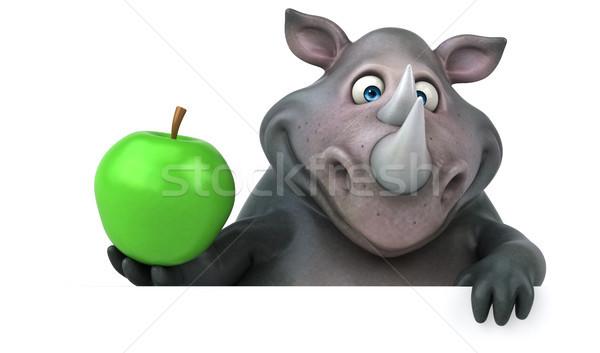 楽しい サイ 3次元の図 リンゴ フルーツ 脂肪 ストックフォト © julientromeur