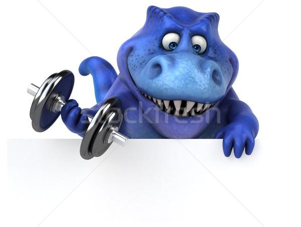 Jókedv dinoszaurusz 3d illusztráció fitnessz tornaterem fogak Stock fotó © julientromeur