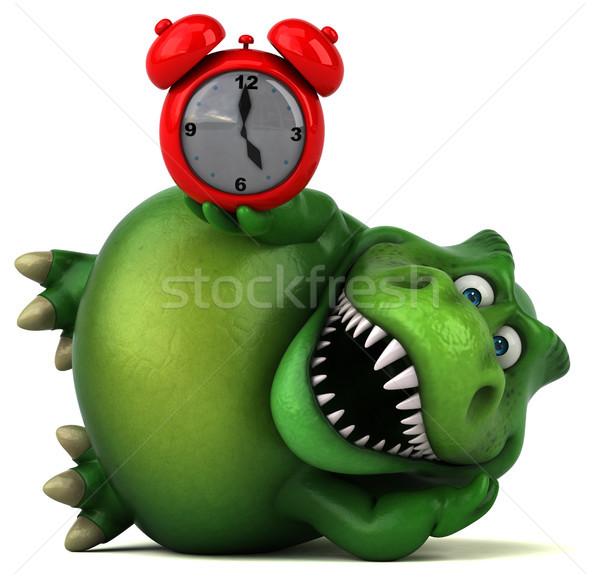 Eğlence dinozor 3d illustration saat dişler hayvan Stok fotoğraf © julientromeur