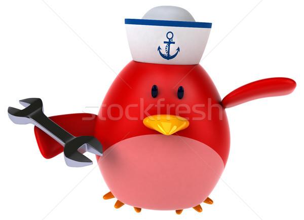 красный птица 3d иллюстрации оранжевый груди работник Сток-фото © julientromeur