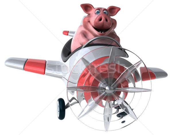 Diversão porco ilustração 3d fazenda animal agricultura Foto stock © julientromeur