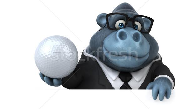 Spaß Gorilla 3D-Darstellung Sport Anzug Tier Stock foto © julientromeur