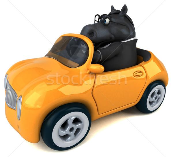 Diversión caballo 3d traje granja carrera Foto stock © julientromeur