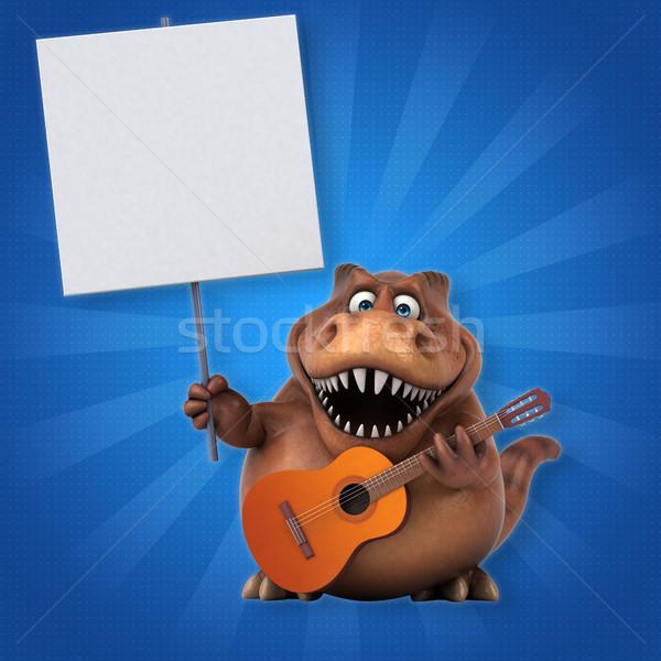 Zabawy 3d ilustracji koncertu zęby jazz zwierząt Zdjęcia stock © julientromeur