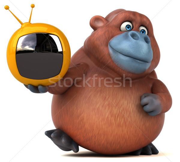 Eğlence 3d illustration doğa ekran Afrika maymun Stok fotoğraf © julientromeur