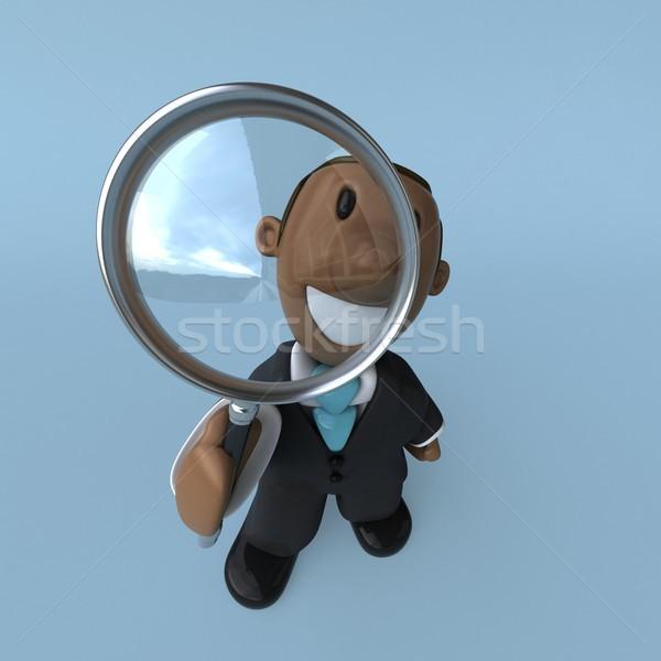 Cartoon biznesmen 3d ilustracji człowiek pracy chłopca Zdjęcia stock © julientromeur