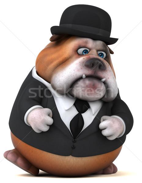 楽しい ブルドッグ 3次元の図 犬 スーツ 脂肪 ストックフォト © julientromeur