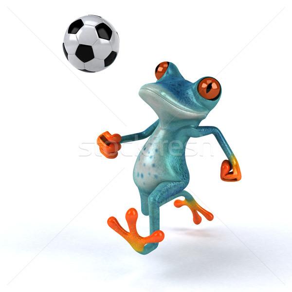 Stok fotoğraf: Eğlence · kurbağa · 3d · illustration · spor · futbol · çevre