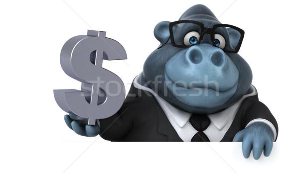 Jókedv gorilla 3d illusztráció üzlet pénzügy állat Stock fotó © julientromeur