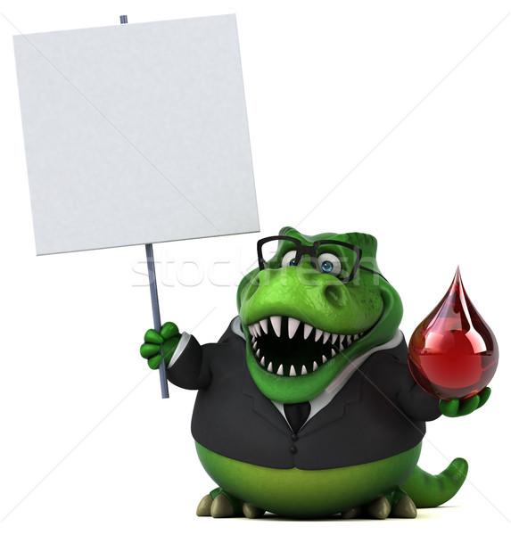 весело 3d иллюстрации бизнеса кровь бизнесмен красный Сток-фото © julientromeur