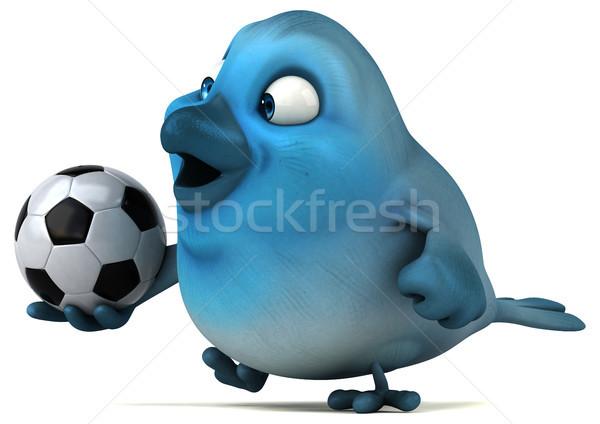 Azul pássaro esportes futebol bola comunicação Foto stock © julientromeur