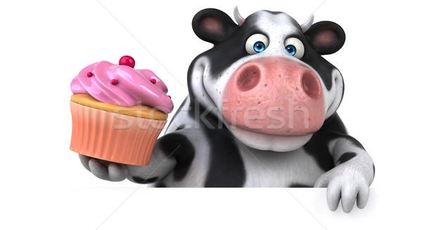 весело корова 3d иллюстрации природы волос фермы Сток-фото © julientromeur