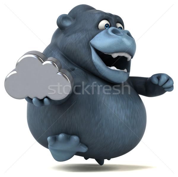 Leuk gorilla 3d illustration natuur afrika grappig Stockfoto © julientromeur