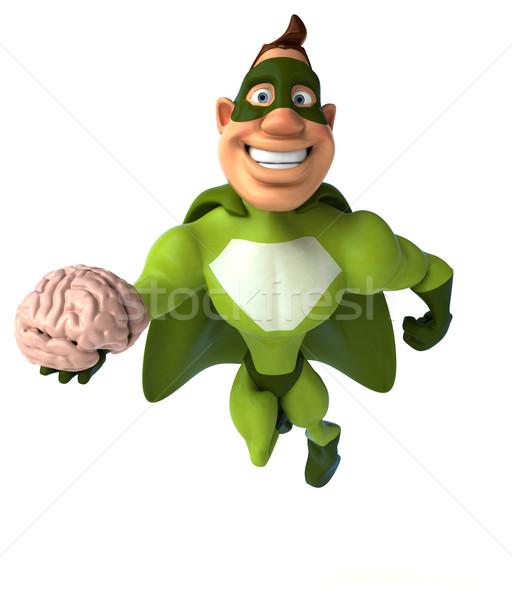 Zabawy superhero człowiek ciało mózgu prędkości Zdjęcia stock © julientromeur
