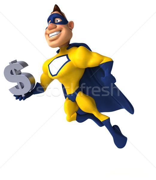 весело superhero человека тело Финансы скорости Сток-фото © julientromeur