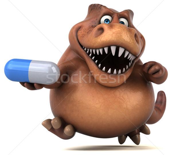 Foto stock: Diversão · ilustração · 3d · dentes · animal · história · pílula