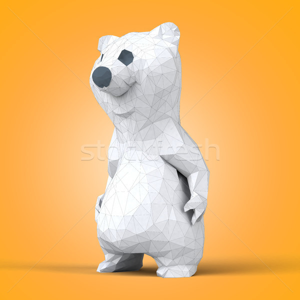 Polygonal bear Stock photo © julientromeur