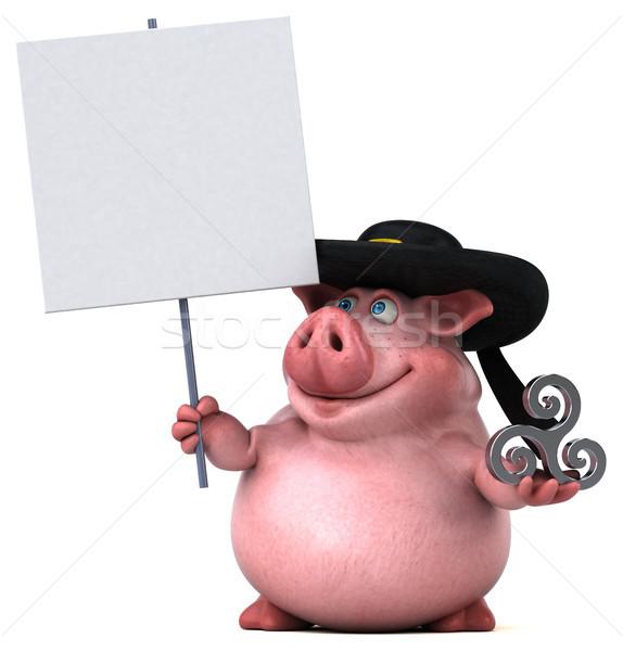 Fun Pig - 3D Illustration Stock photo © julientromeur