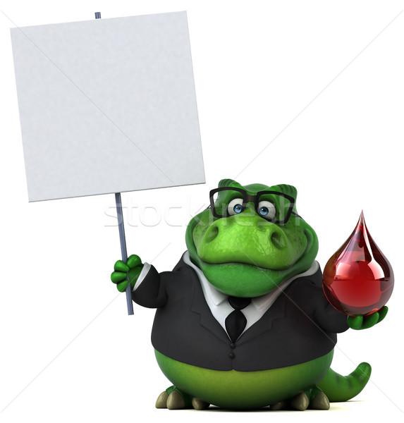 Сток-фото: весело · 3d · иллюстрации · бизнеса · кровь · бизнесмен · красный