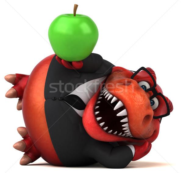 Leuk 3d illustration business appel vruchten zakenman Stockfoto © julientromeur