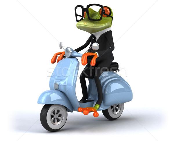 Leuk kikker model kunst zakenman fiets Stockfoto © julientromeur