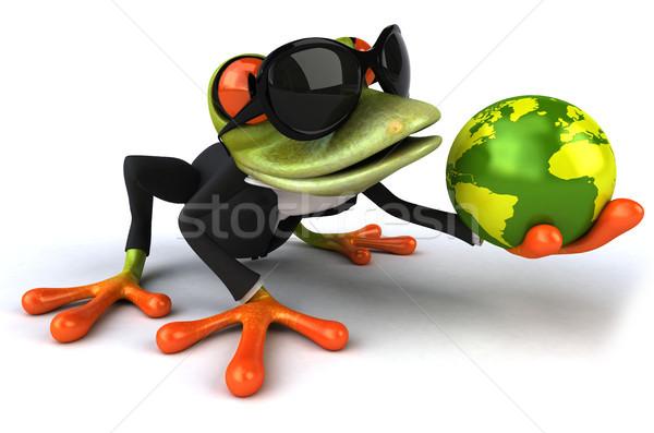 Сток-фото: весело · лягушка · глаза · природы · бизнесмен · костюм