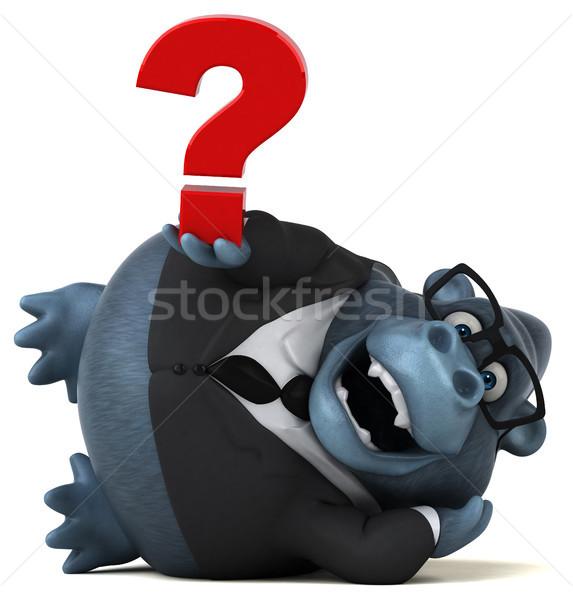 Leuk gorilla 3d illustration business natuur zakenman Stockfoto © julientromeur