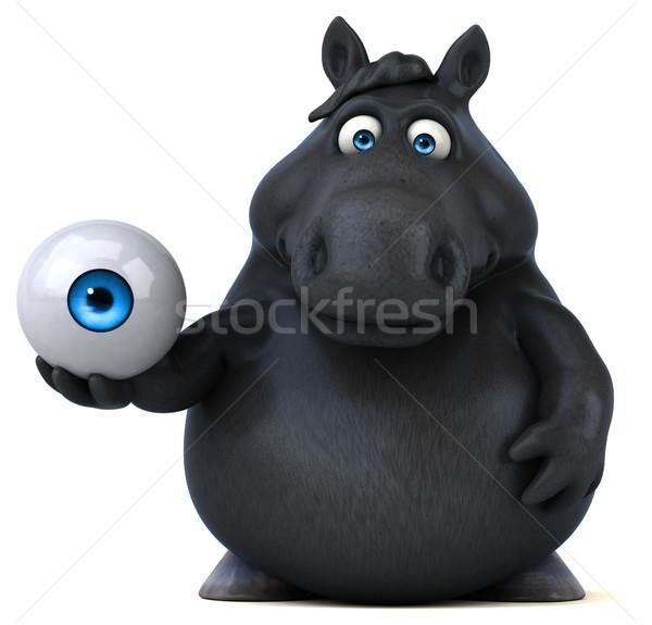 Distracţie cal ilustrare 3d fermă rasă animal Imagine de stoc © julientromeur