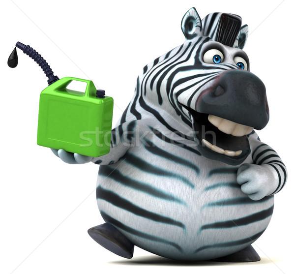 Zabawy zebra 3d ilustracji Afryki energii zwierząt Zdjęcia stock © julientromeur