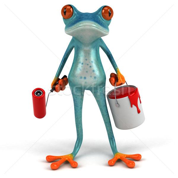 Eğlence kurbağa 3d illustration sanat ressam çevre Stok fotoğraf © julientromeur