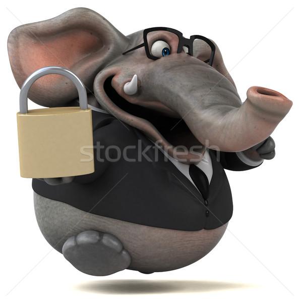 Diversão elefante ilustração 3d negócio empresário África Foto stock © julientromeur