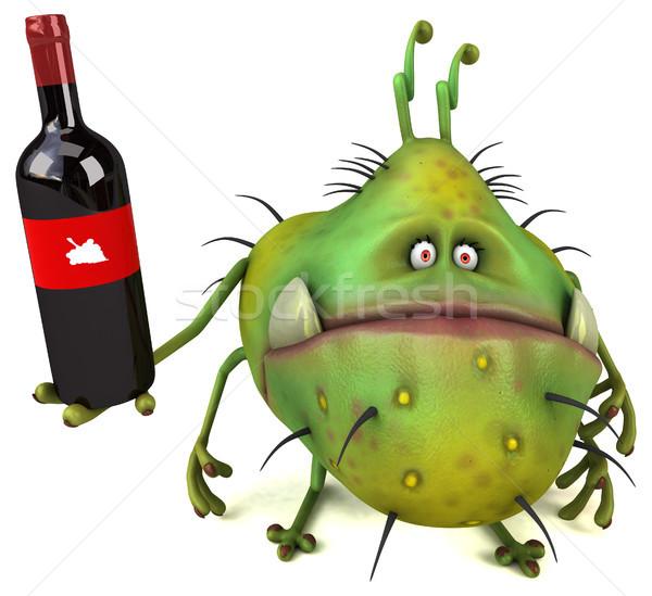 Jókedv bacilus 3d illusztráció egészség ital piros Stock fotó © julientromeur