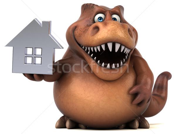 весело 3d иллюстрации домой зубов недвижимости животного Сток-фото © julientromeur