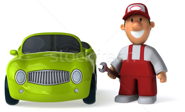 Leuk monteur 3d illustration mannen werknemer dienst Stockfoto © julientromeur