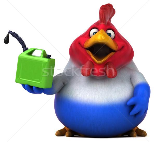 Jókedv tyúk 3d illusztráció terv madár zöld Stock fotó © julientromeur