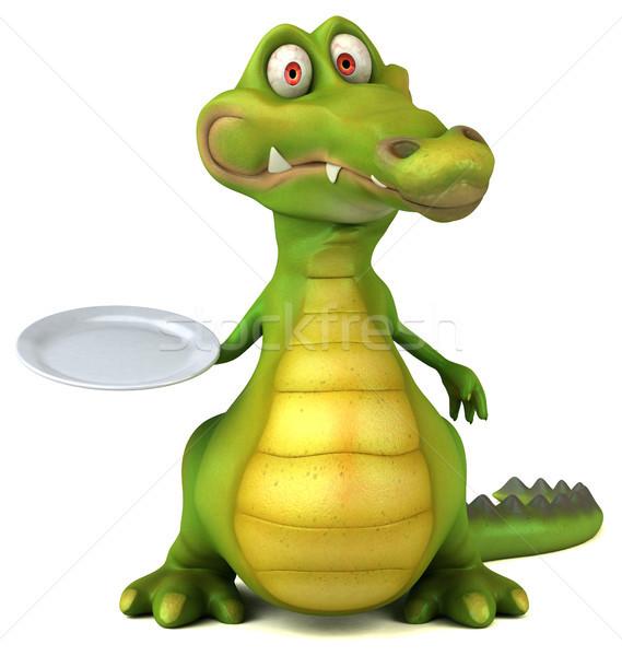 Crocodilo diversão comida feliz projeto arte Foto stock © julientromeur
