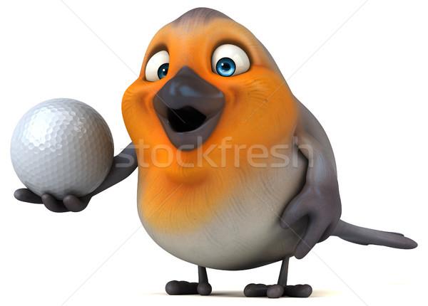 Leuk vogel golf oranje borst bal Stockfoto © julientromeur