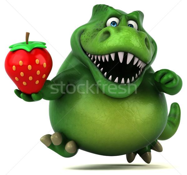 Eğlence dinozor 3d illustration çilek dişler hayvan Stok fotoğraf © julientromeur