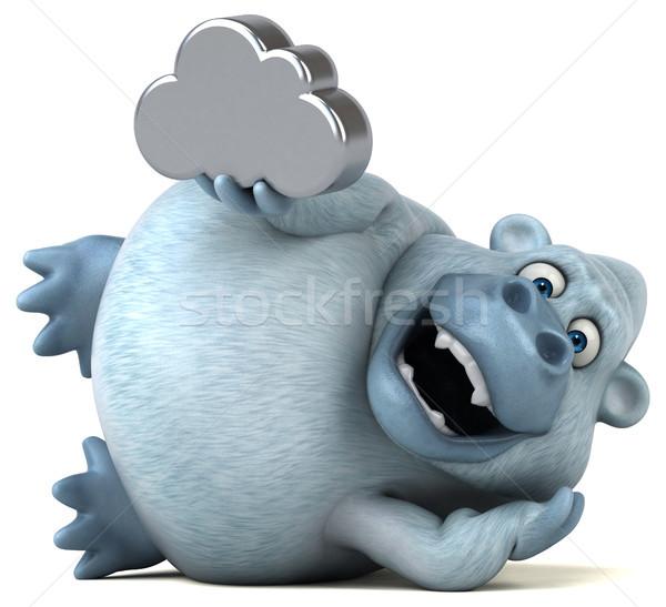Eğlence doğa Afrika bulut komik hayvan Stok fotoğraf © julientromeur