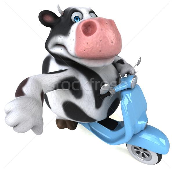 Zabawy krowy 3d ilustracji model sztuki miejskich Zdjęcia stock © julientromeur