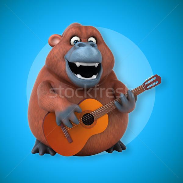 Eğlence 3d illustration gitar doğa konser Afrika Stok fotoğraf © julientromeur