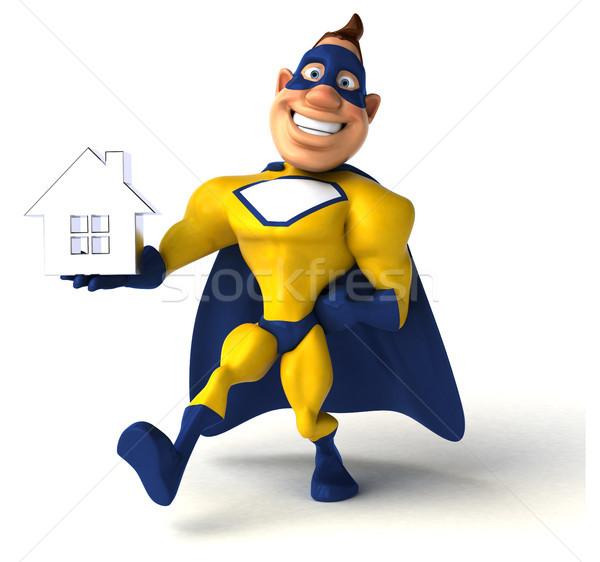 Eğlence süper kahraman ev adam vücut ev Stok fotoğraf © julientromeur